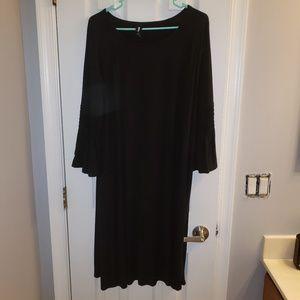 Large Agnes and Dora Black Walker Dress
